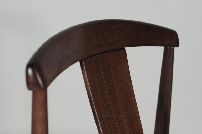 20th Century Set of Four Teak Dining Chairs by Folke Ohlsson for DUX, 1950s For Sale