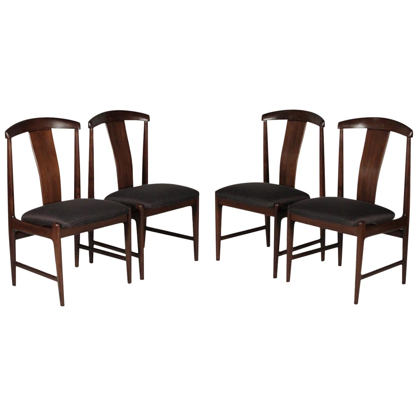 Set of Four Teak Dining Chairs by Folke Ohlsson for DUX, 1950s