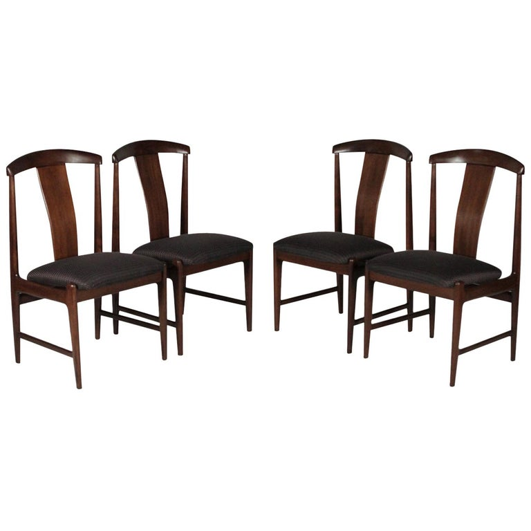Set of Four Teak Dining Chairs by Folke Ohlsson for DUX, 1950s For Sale