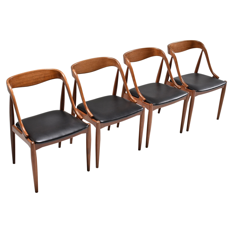 Set of Four Teak Dining Chairs by Johannes Andersen for Uldum, Denmark, 1960
