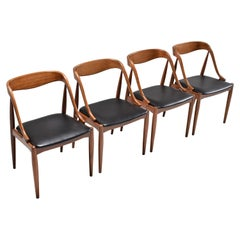 Set of Four Teak Dining Chairs by Johannes Andersen for Uldum, Denmark, 1960