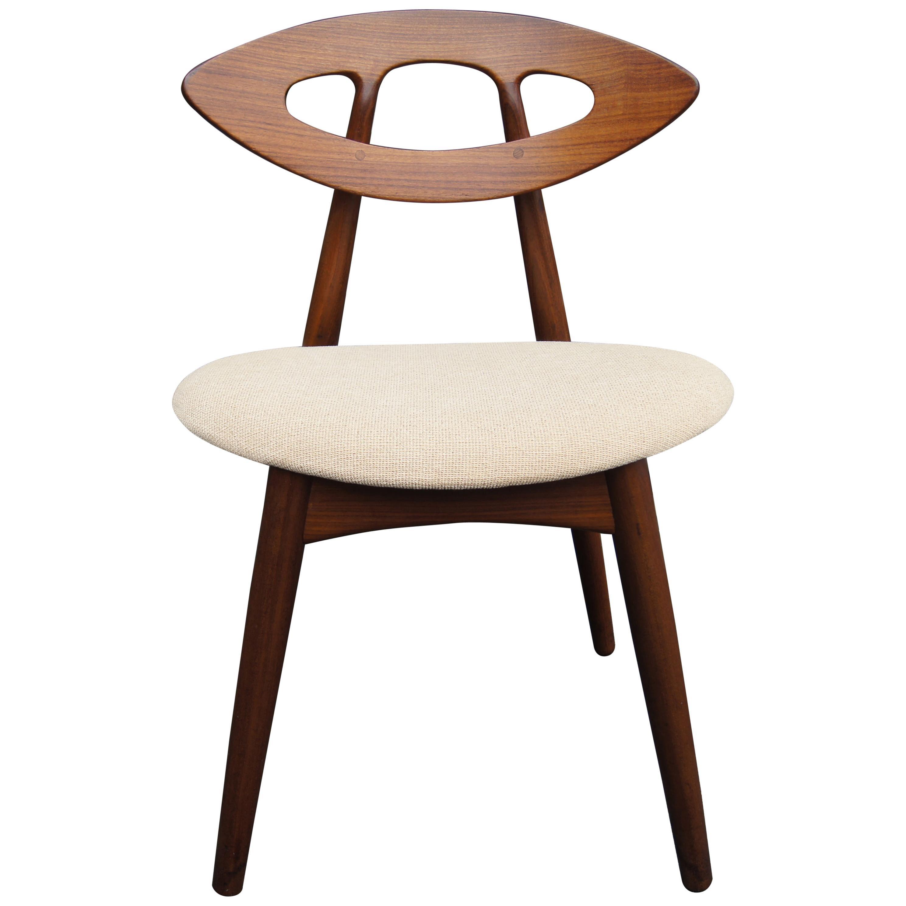 Set of Four Teak Eye Chairs by Ejvind A. Johansson for Ivan Gern Møbelfabrik