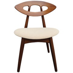 Set of Four Teak Eye Chairs by Ejvind A. Johansson for Ivan Gern Møbelfabrik