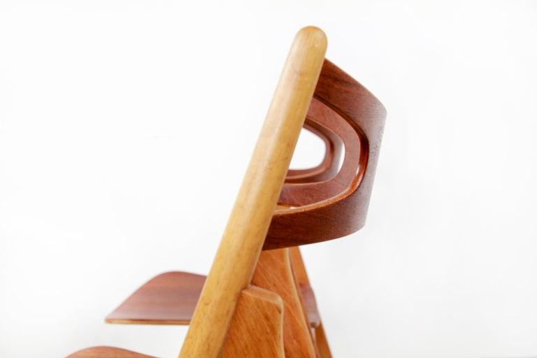20th Century Set of Four Teak Hans J Wegner Sawbuck Model CH29 Chairs by Carl Hansen For Sale