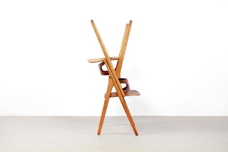 Set of Four Teak Hans J Wegner Sawbuck Model CH29 Chairs by Carl Hansen For Sale 2