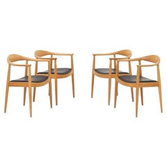 """Set of Four """"the Chairs"""" by Hans J. Wegner"""