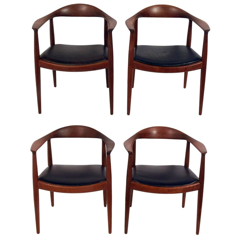"""Set of Four """"The Chairs"""" by Hans Wegner for Johannes Hansen For Sale"""