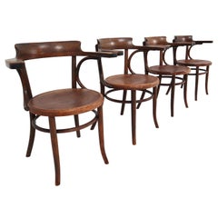 Set of Four Thonet Armchairs in Bentwood, Austria, 1890