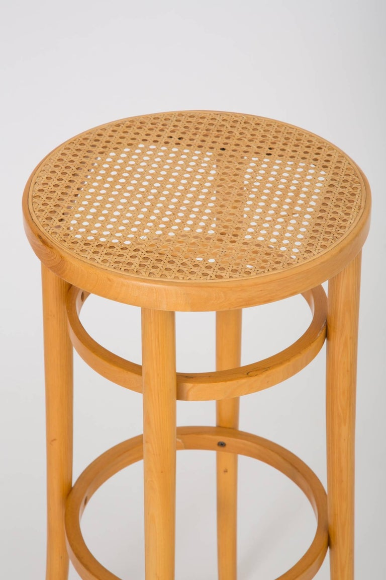 Set Of Four Thonet Bentwood Bar Stools For Sale At 1stdibs