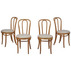 Set of Four Thonet Bentwood Dining Chairs