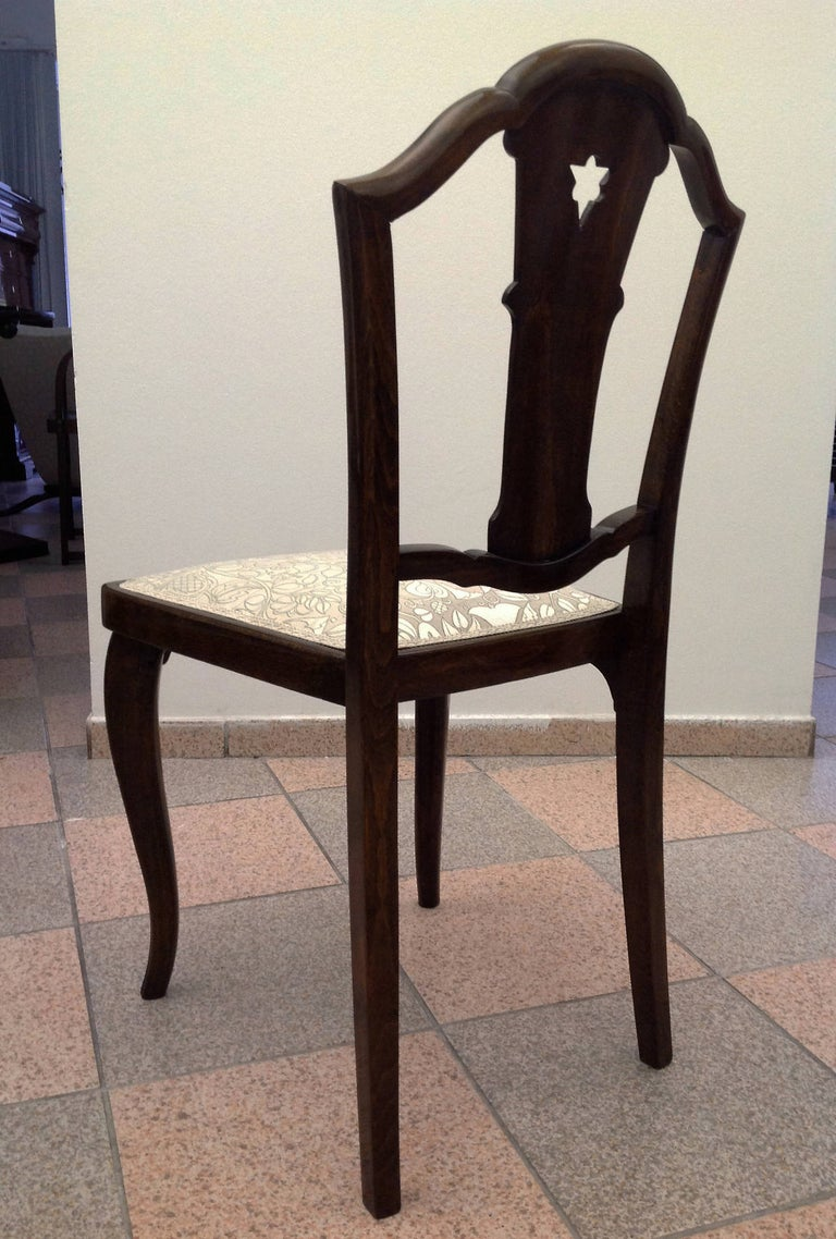Set of Four Thonet Chairs Attributed to Otto Prutscher For Sale 3