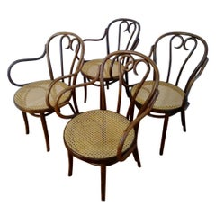 Set of Four Thonet ZPM Radomsko Bentwood Chairs