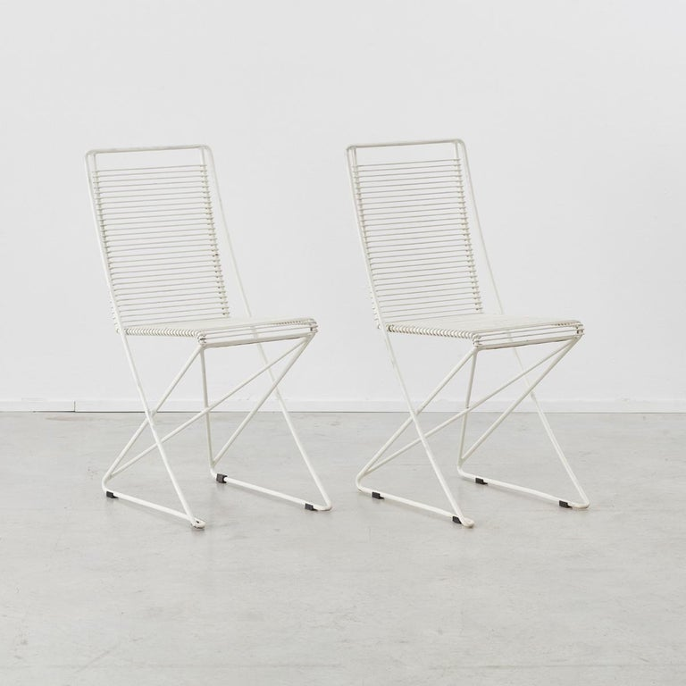 Post-Modern Set of Four till Behrens Kreuzschwinger Chairs for Schlubach, Germany, 1983 For Sale
