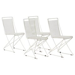 Set of Four till Behrens Kreuzschwinger Chairs for Schlubach, Germany, 1983