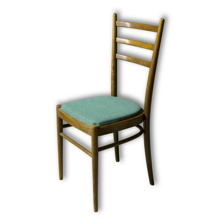 Mid-Century Modern Set of Four Ton Dining Chairs, Czechoslovakia, 1960s For Sale