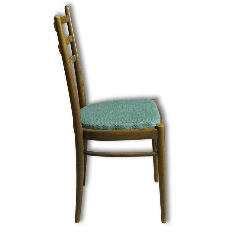 Beech Set of Four Ton Dining Chairs, Czechoslovakia, 1960s For Sale