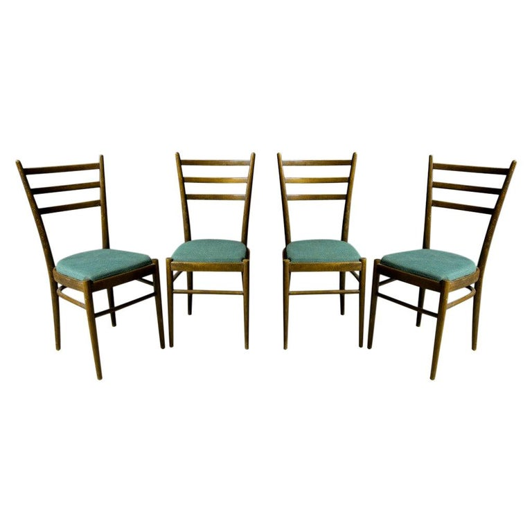 Set of Four Ton Dining Chairs, Czechoslovakia, 1960s For Sale