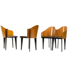 "Set of Four ""Toscana"" Chairs by Piero Sartogo for Saporiti, Italy, 1986"