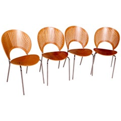 Set of Four Trinidad Chairs by Nanna Ditzel for Fredericia, 1990s