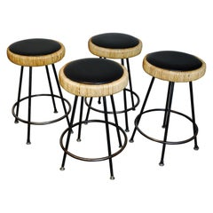 Set of Four Tropical Counter Stools by Danny Ho Fong