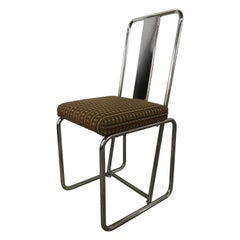 Set of Four Tubular Chrome Dining Chairs