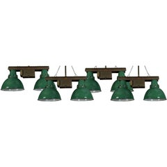 Set of Four Twin Vintage Industrial Lights
