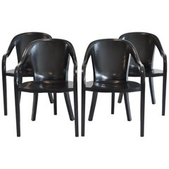 Set of Four University Chairs by Ward Bennett for Brickell Assoc