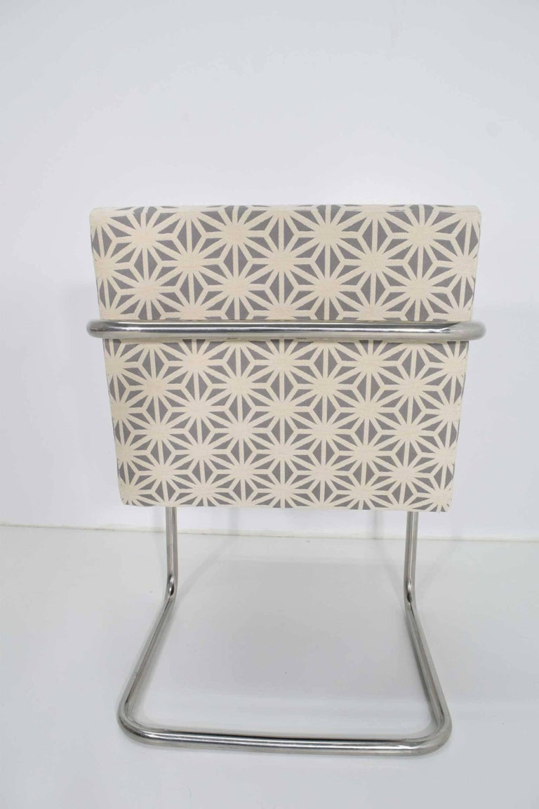 Mid-Century Modern Set of Four Mies Van Der Rohe Brno Chairs by Knoll For Sale