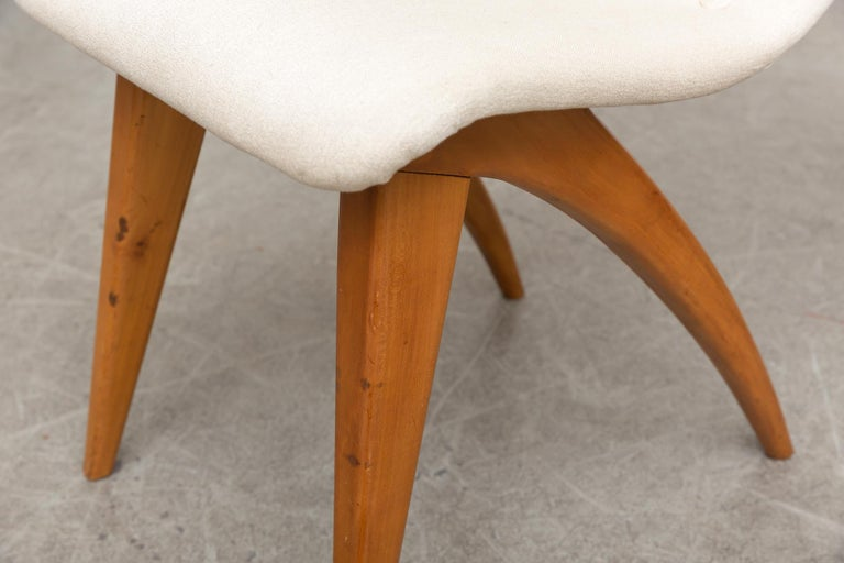 Set of Four Van Os Dining Chairs in White For Sale 2