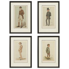 Set of Four Vanity Fair Equestrian Prints, Men of the Day