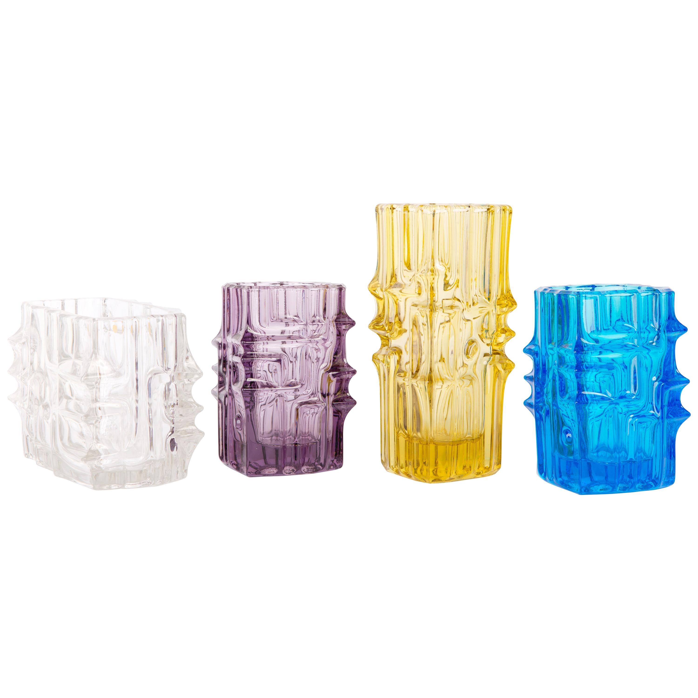 Set of Four Vases by Vladislav Urban for Sklo Union, 20th Century, Europe, 1960s