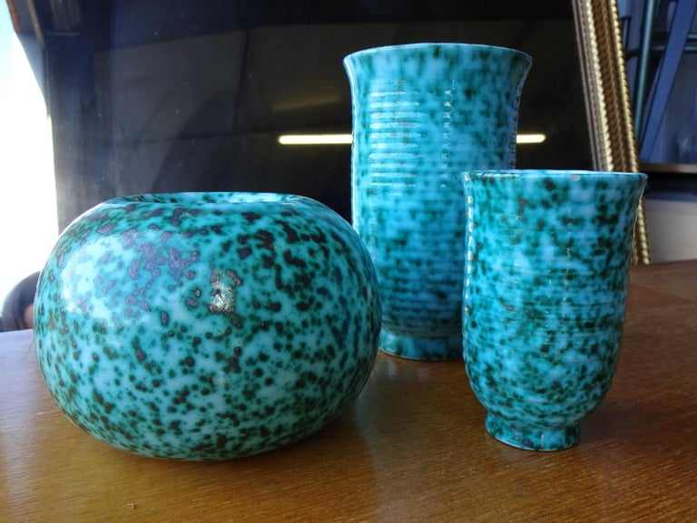 Set of Four Vases from Elchinger, France  For Sale 5