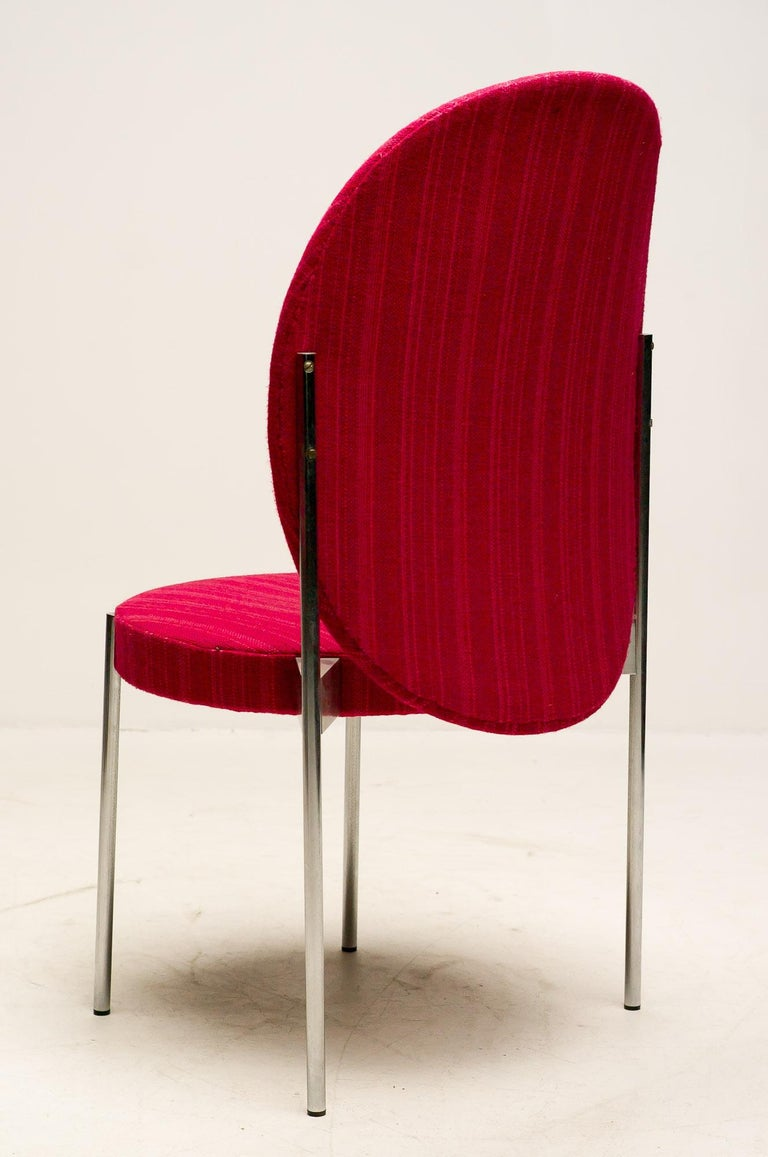 Danish Set of Four Verner Panton High Back Dining Chairs for Thonet For Sale