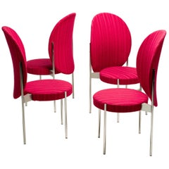 Set of Four Verner Panton High Back Dining Chairs for Thonet