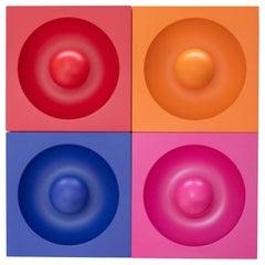 """Set of Four Verner Panton """"Spiegel"""" Wall Lights"""