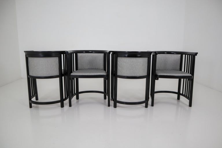 Set of Four Vienna Secession Armchairs in Bentwood Designed by Josef Hoffman For Sale 1