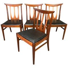 "Set of Four Vintage British Midcentury Teak ""Brasilia"" Dining Chairs by G Plan"