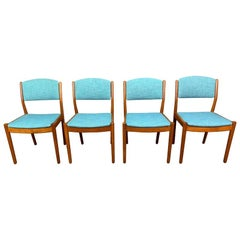 Set of Four Vintage Danish Mid-Century Modern Oak Dining Chairs by Poul Volther