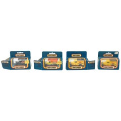 Set of Four Vintage Ford Match Box Car Toys, circa 1960