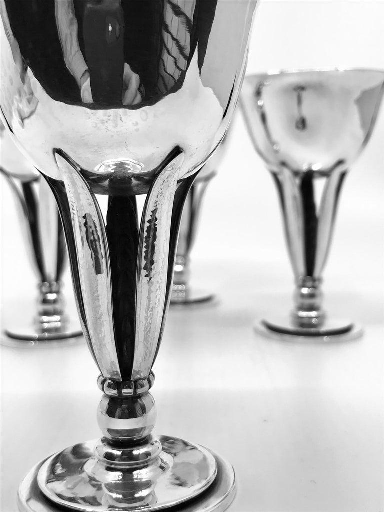 Danish Set of Four Vintage Georg Jensen Goblets #462 by Harald Nielsen For Sale