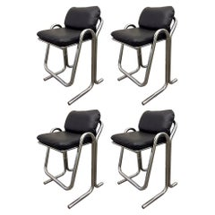 Set of Four Vintage Jerry Johnson Bar Stools