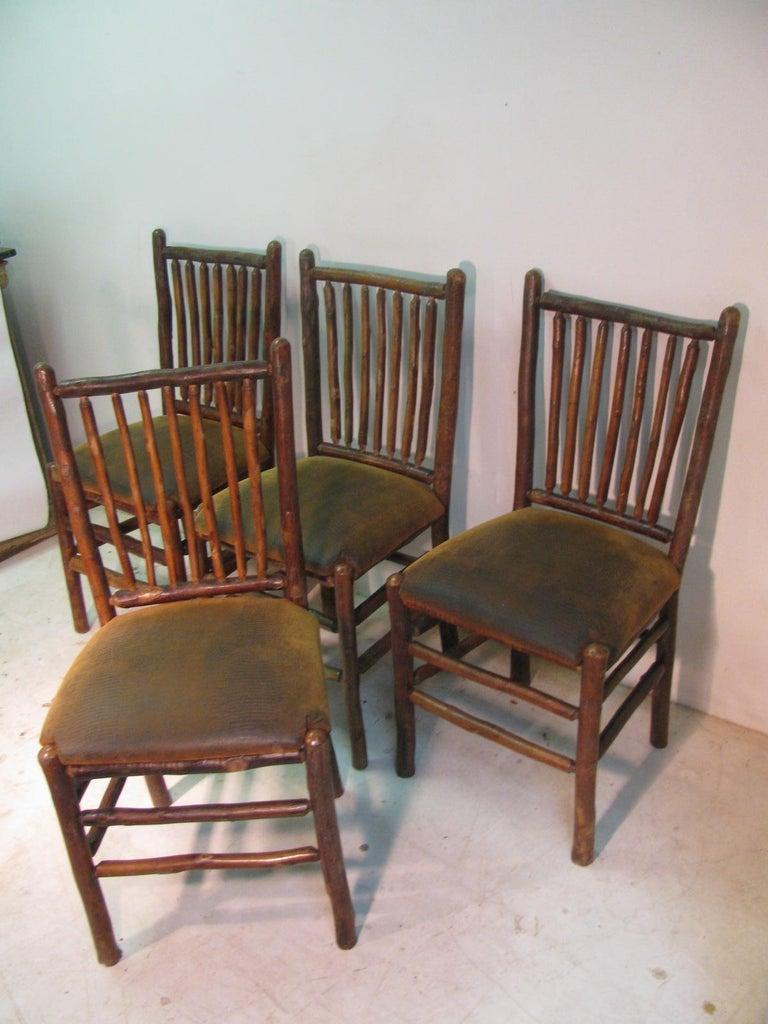 Set of Four Vintage Old Hickory Adirondack Dining Side ...
