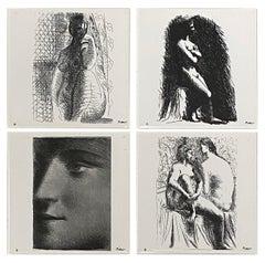 Set of Four Vintage Picasso Art Tiles, circa 1976