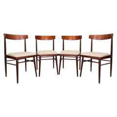 Set of Four Vintage Rosewood Chairs JITONA, Czechoslovakia, 1970s