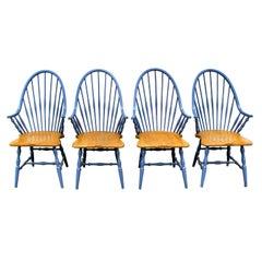 Set of Four Vintage Windsor Style Armchairs, Kli Logatec, Slovenia, 1996