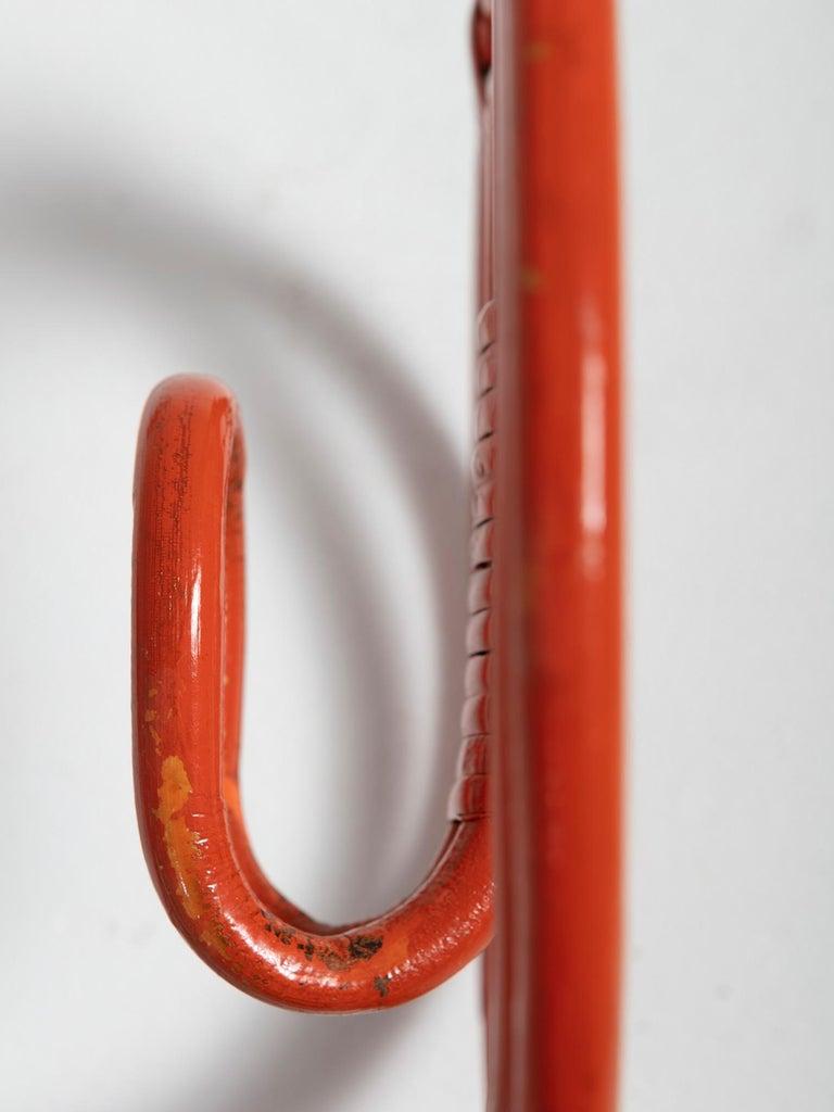 Wicker Set of Four Wall Hooks by Albini Helg for Bonacina For Sale