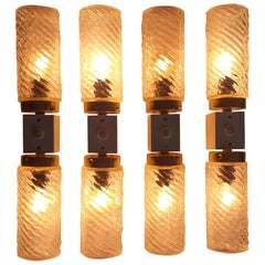 Set of Four Wall Lamps Napako, Designed by Josef Hurka, 1970s