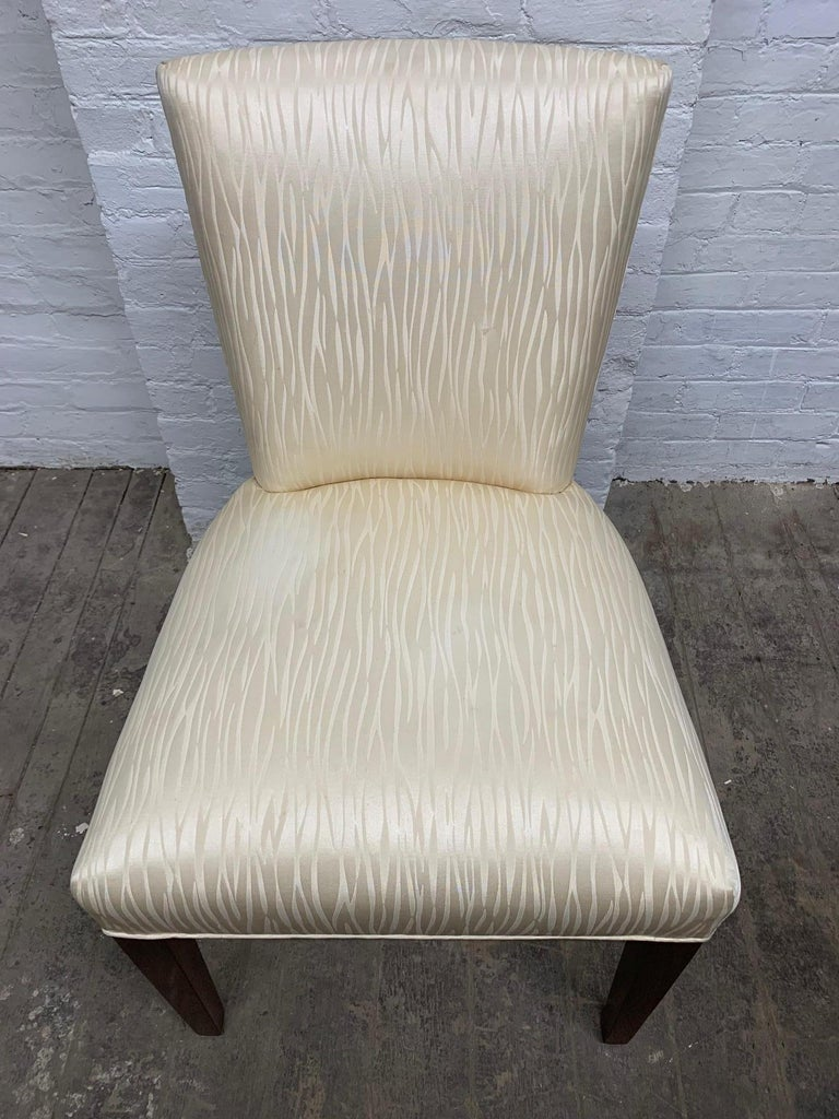 Set of Four Walnut Upholstered Dining Chairs In Good Condition For Sale In New York, NY