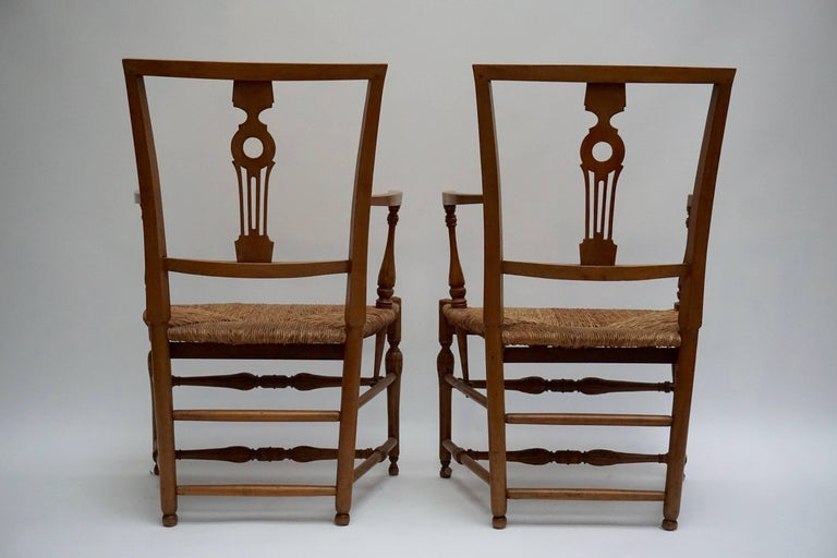 Set of Four Wicker Armchairs In Good Condition For Sale In Antwerp, BE