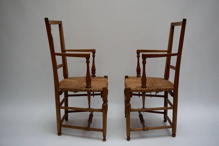 20th Century Set of Four Wicker Armchairs For Sale